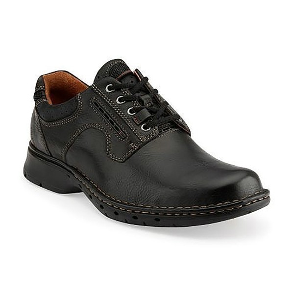 MEN'S UN.RAVEL BLACK LEATHER LACE CASUAL Thumbnail
