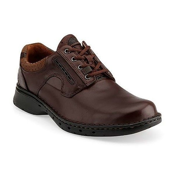 MEN'S UN.RAVEL BROWN LEATHER LACE CASUAL Thumbnail