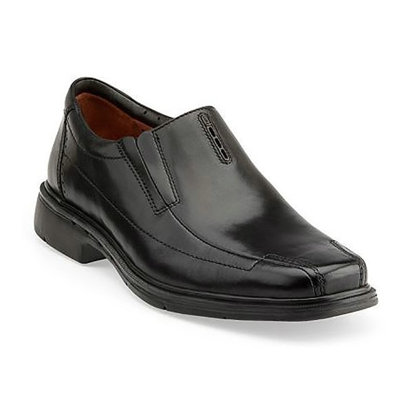 MEN'S UN.SHERIDAN BLACK LEATHER DRESS SLIP-ON Thumbnail