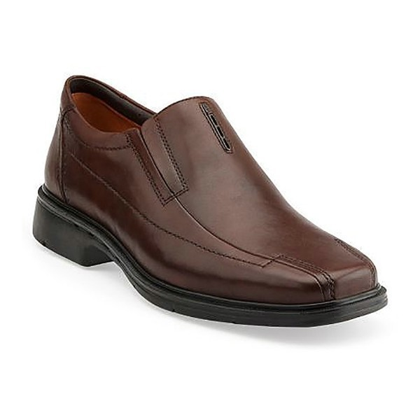 MEN'S UN.SHERIDAN BROWN LEATHER DRESS SLIP-ON Thumbnail