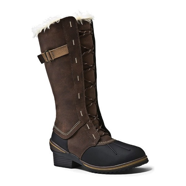 WOMEN'S MIRAGE BROWN LEATHER WINTER BOOT Thumbnail