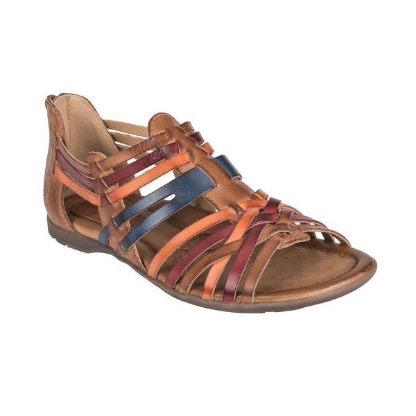 WOMEN'S BONFIRE SAND BROWN MULTI SANDAL Thumbnail