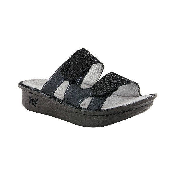 WOMEN'S CAMILLE TILE ME MORE BLACK SANDAL Thumbnail