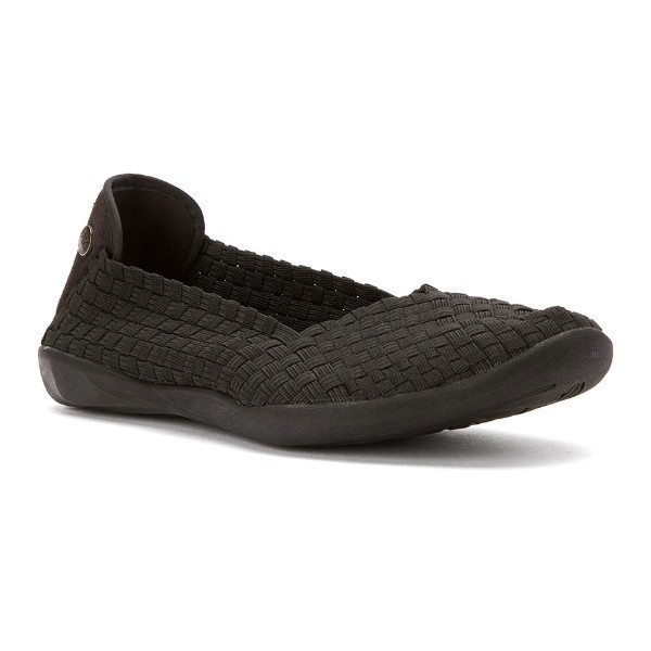 WOMEN'S CATWALK BLACK STRETCH CASUAL SHOE Thumbnail