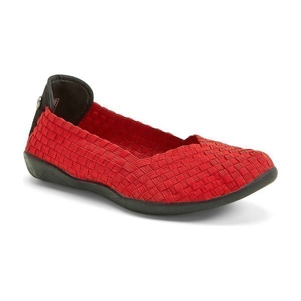 WOMEN'S CATWALK RED STRETCH CASUAL SHOE Thumbnail