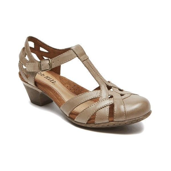 WOMEN'S AUBREY KHAKI T-STRAP DRESS SHOE Thumbnail