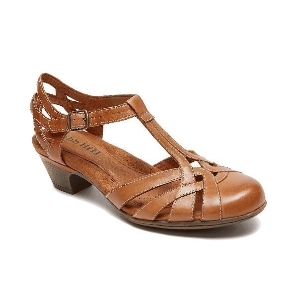 WOMEN'S AUBREY TAN T-STRAP DRESS SHOE Thumbnail