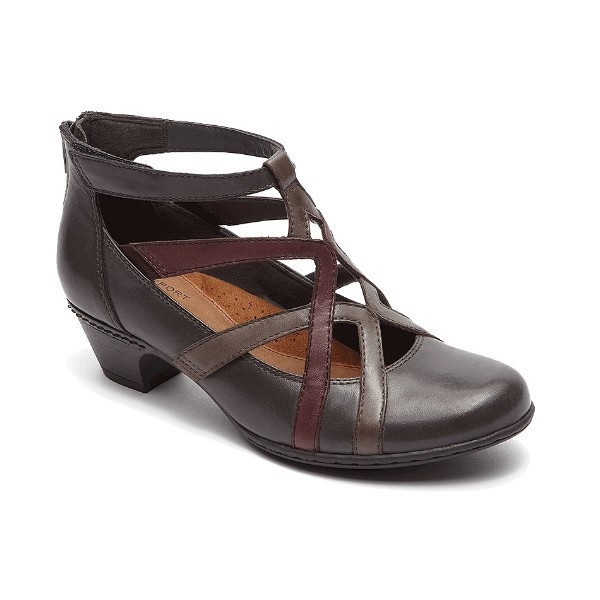 WOMEN'S ADRINA GREY MULTI LEATHER DRESS SHOE Thumbnail