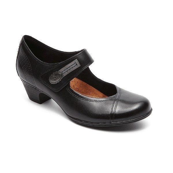 WOMEN'S ABIGAIL BLACK MARY-JANE DRESS SHOE Thumbnail