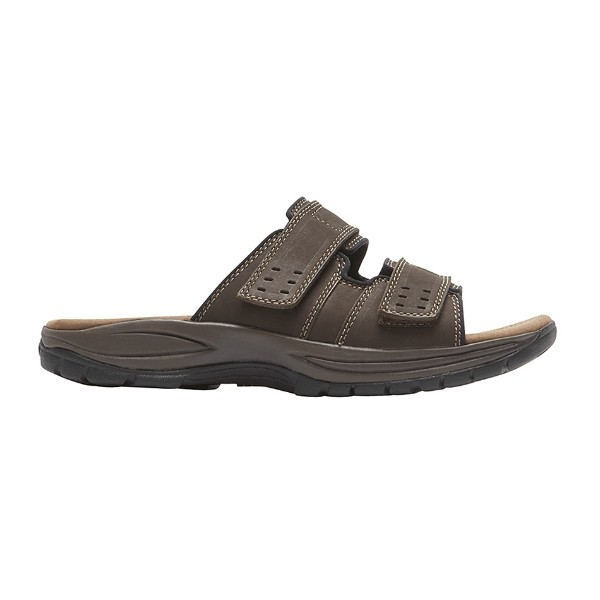 MEN'S NEWPORT SLIDE BROWN SANDAL Thumbnail