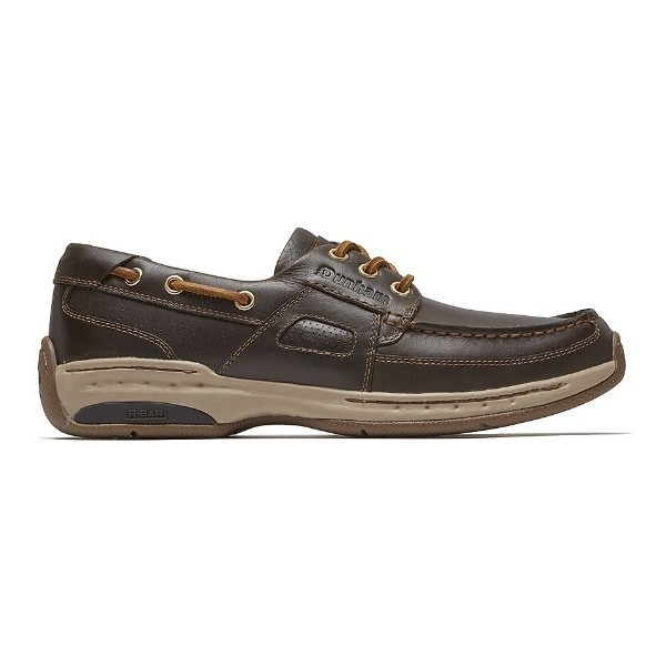 MEN'S CAPTAIN 2 BROWN LEATHER BOAT SHOE Thumbnail