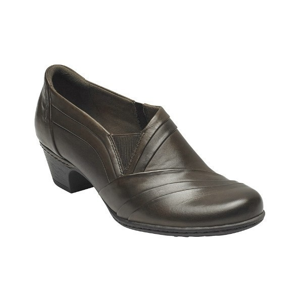 WOMEN'S ABBOTT BROWN LEATHER DRESS SLIP-ON Thumbnail