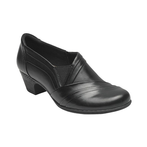 WOMEN'S ABBOTT BLACK LEATHER DRESS SLIP-ON Thumbnail