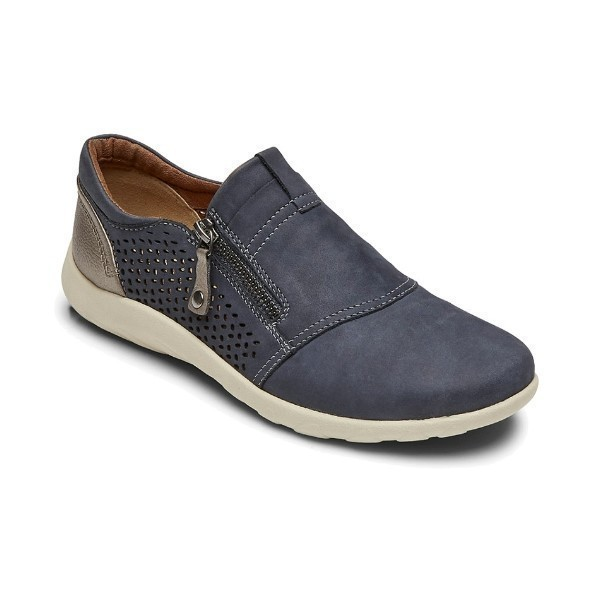 WOMEN'S AMALIE ZIPPER DENIM PERF SLIP-ON Thumbnail