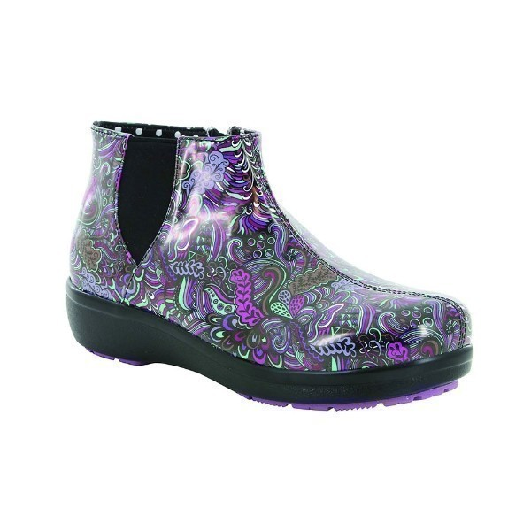 WOMEN'S CLIMATEASE PURPLE MULTI RUBBER BOOT  Thumbnail