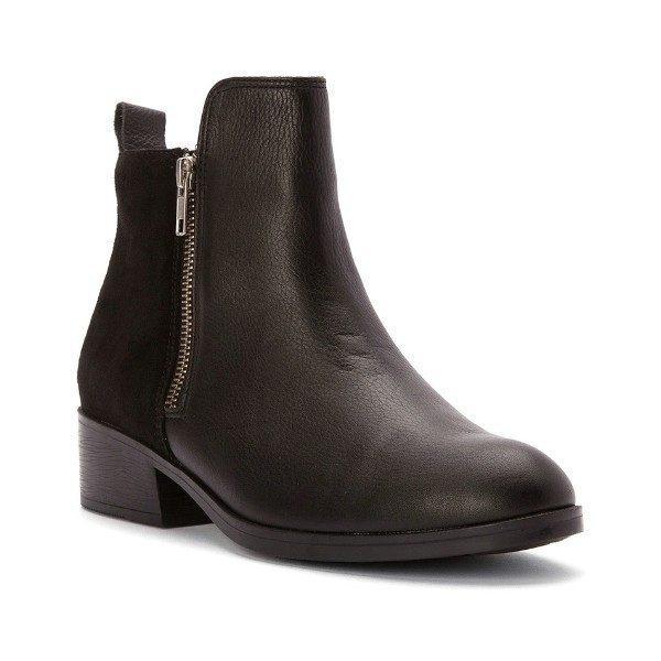 WOMEN'S CONNECT BLACK LEA/SDE DRESS BOOT Thumbnail