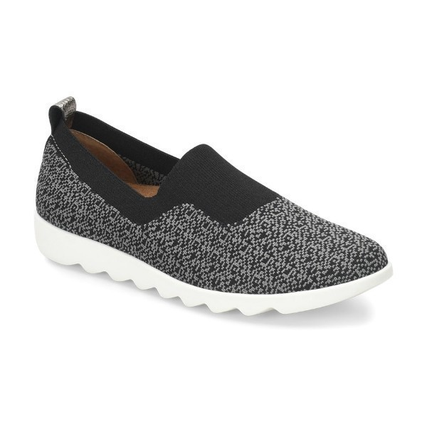 WOMEN'S GINGER BLACK/GREY SLIP-ON SNEAKER Thumbnail
