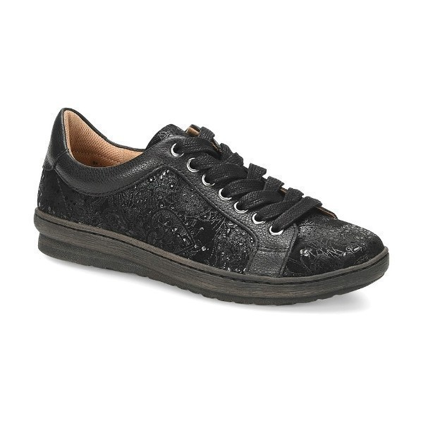 WOMEN'S CALEDONIA BLACK NEW CASTLE SNEAKER Thumbnail