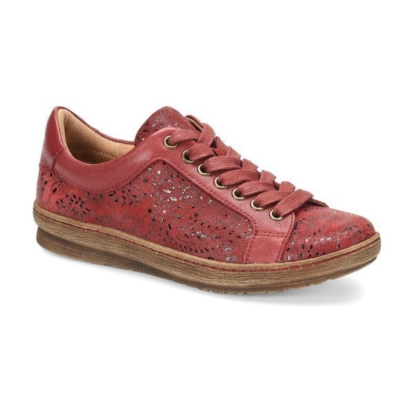 WOMEN'S CALEDONIA RED NEW CASTLE SNEAKER Thumbnail