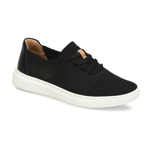 WOMEN'S TRISTA BLACK KNIT SNEAKER Thumbnail