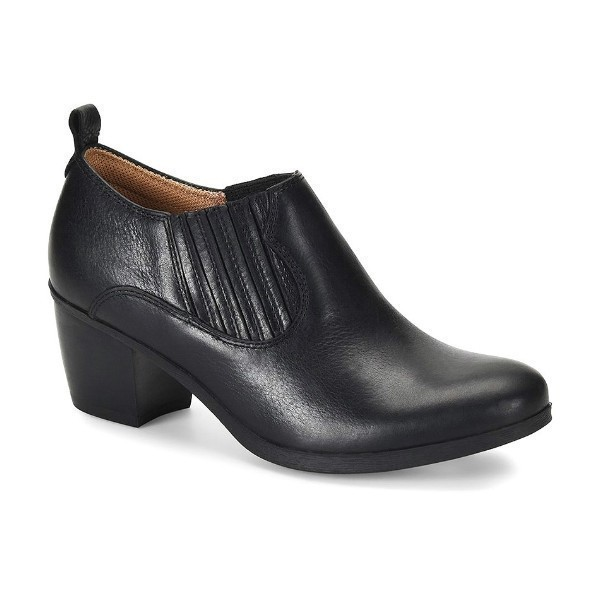 WOMEN'S ARNETTE BLACK LEATHER BOOTIE Thumbnail