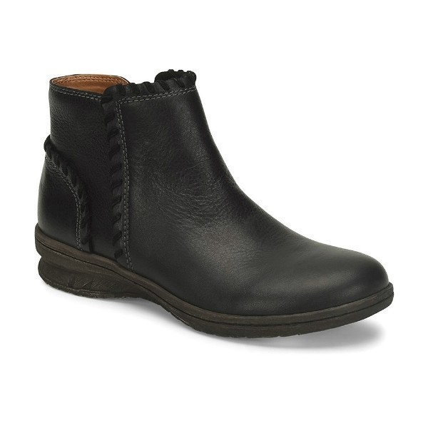 WOMEN'S FALLSTON BLACK LEATHER BOOTIE Thumbnail
