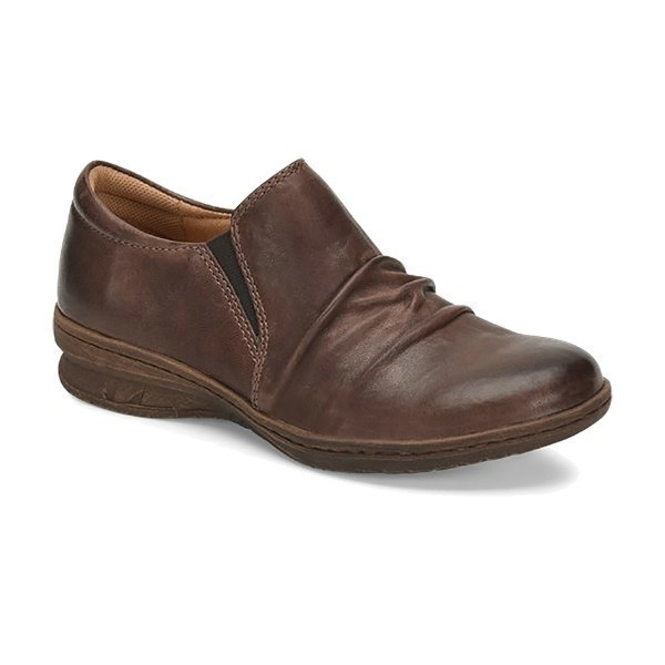 WOMEN'S FLORIAN COCOA BROWN LEATHER SLIP-ON Thumbnail