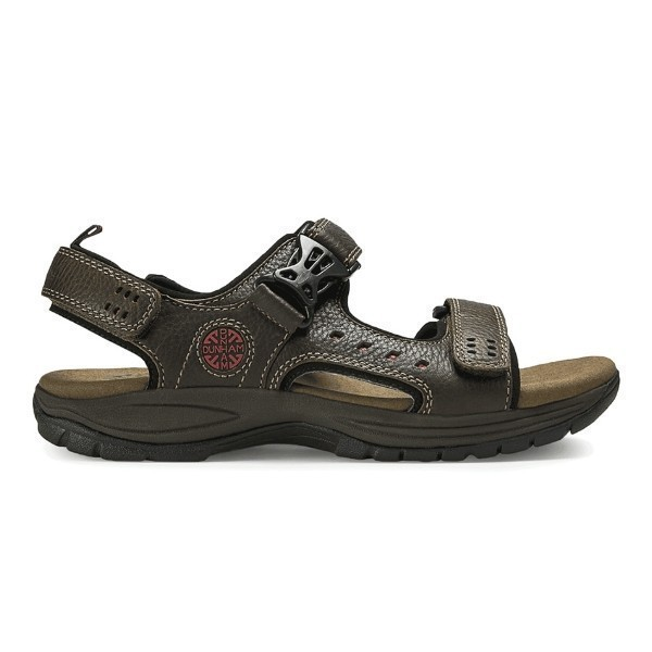 MEN'S NOLAN-DUN BROWN 2 STRAP SANDAL Thumbnail