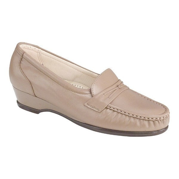 WOMEN'S EASIER MOCHA LEATHER CASUAL WEDGE Thumbnail