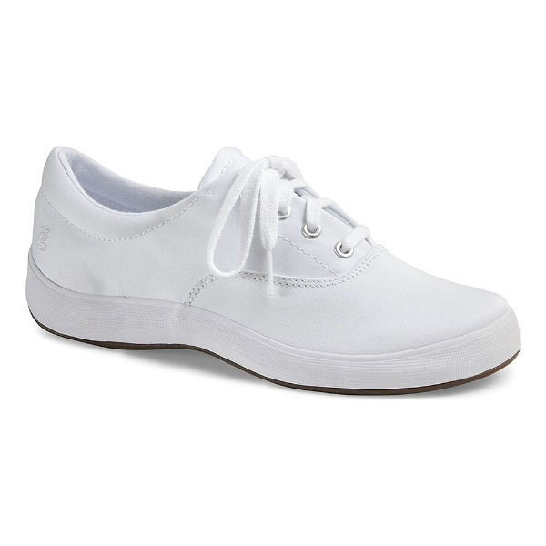 WOMEN'S JANEY WHITE TWILL CANVAS SNEAKER Thumbnail
