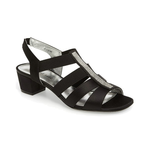 WOMEN'S EVE BLACK STRETCH EVENING SHOE Thumbnail