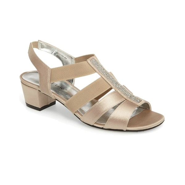 WOMEN'S EVE CHAMPAGNE STRETCH EVENING SHOE Thumbnail