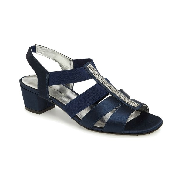 WOMEN'S EVE NAVY STRETCH EVENING SHOE Thumbnail