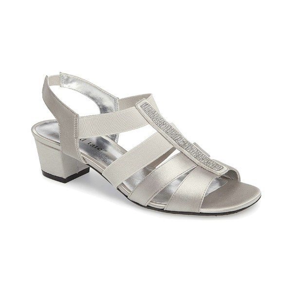 WOMEN'S EVE SILVER STRETCH EVENING SHOE Thumbnail