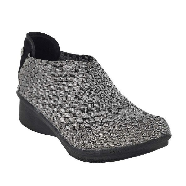 WOMEN'S GEM YAEL GUNMETAL STRETCH CASUAL SHOE Thumbnail