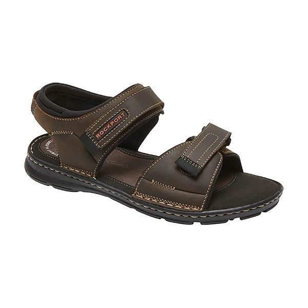 MEN'S DARWYN QUARTER STRAP BROWN SANDAL Thumbnail