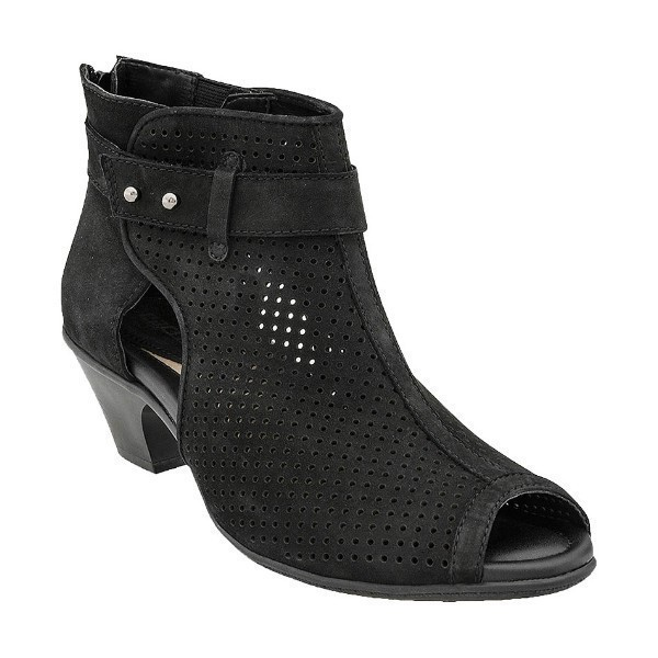 WOMEN'S INTREPID BLACK ZIP BOOTIE SANDAL Thumbnail
