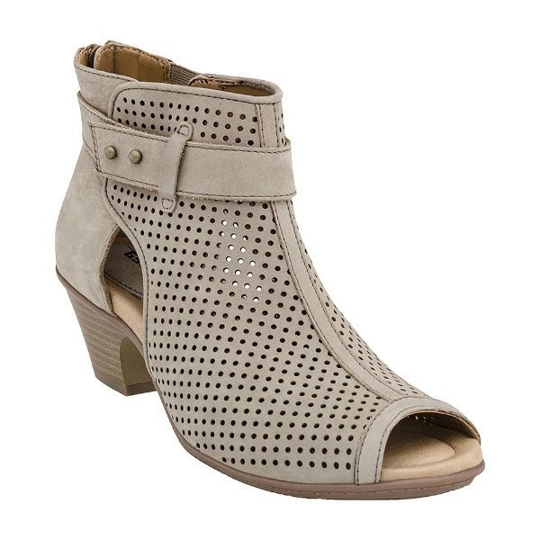 WOMEN'S INTREPID TAUPE ZIP BOOTIE SANDAL Thumbnail