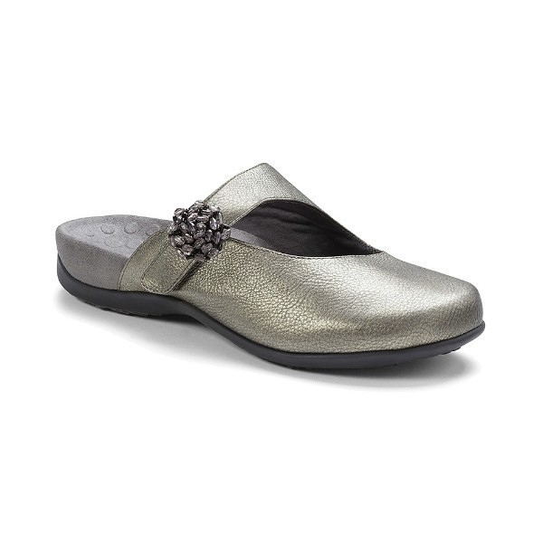 WOMEN'S JOAN PEWTER ADJUSTABLE CLOG Thumbnail