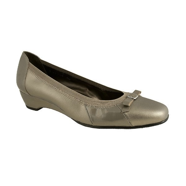 WOMEN'S BECKY PEWTER KID/PATENT DRESS SHOE Thumbnail