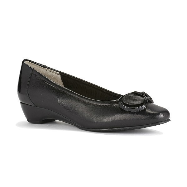 WOMEN'S BEAN BLACK KID/PATENT DRESS SHOE Thumbnail