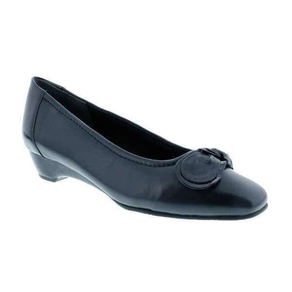 WOMEN'S BEAN NAVY KID/PATENT DRESS SHOE Thumbnail