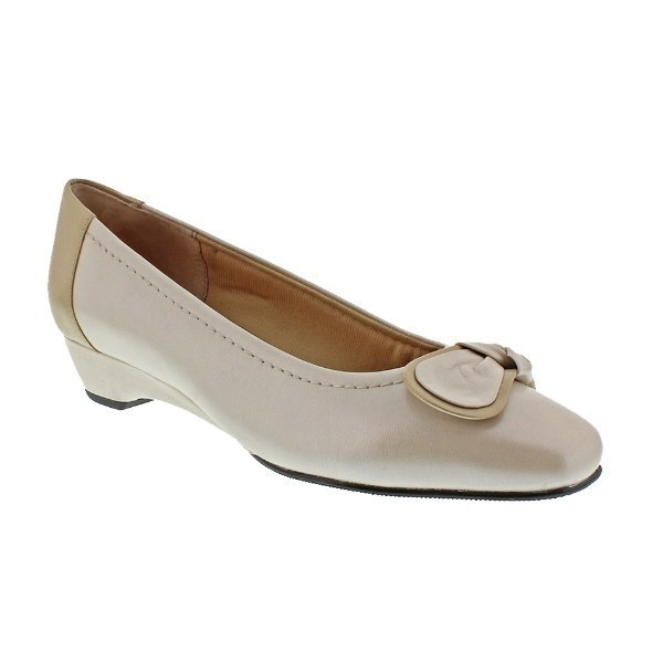 WOMEN'S BEAN SILVER PRESS (BONE) DRESS SHOE Thumbnail