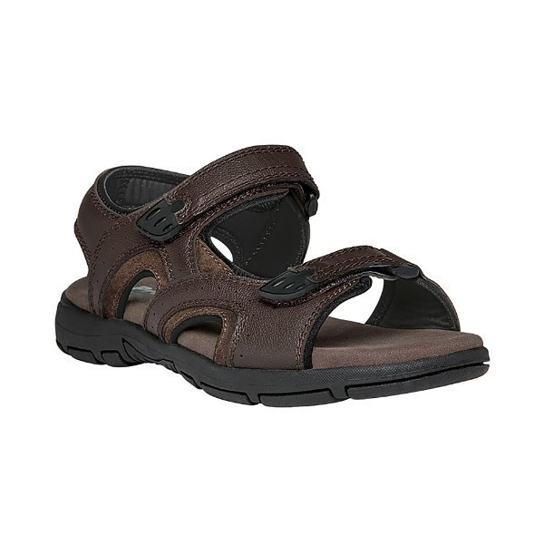 MEN'S ARLO BROWN LEATHER SANDAL Thumbnail