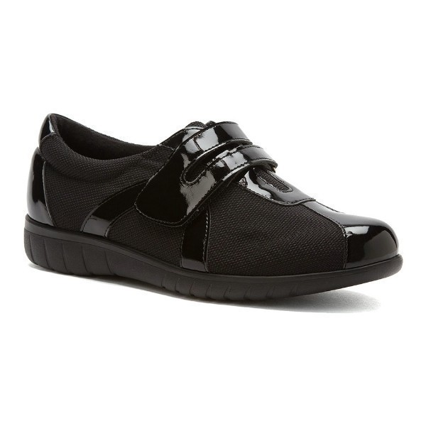 WOMEN'S JEWEL BLACK PATENT/FABRIC SPORT SHOE Thumbnail