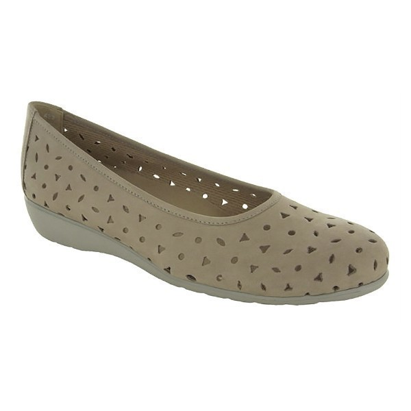 WOMEN'S AUBREY STONE NUBUCK DRESS FLAT  Thumbnail