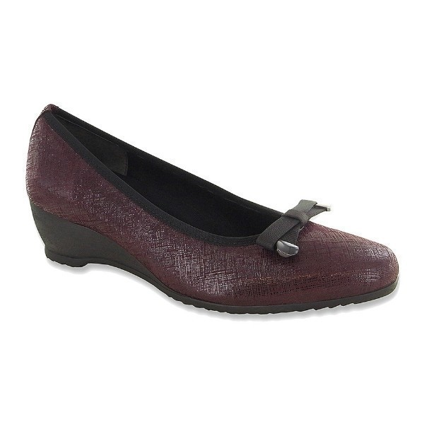 WOMEN'S RANDA WINE CROSSHATCH DRESS WEDGE Thumbnail