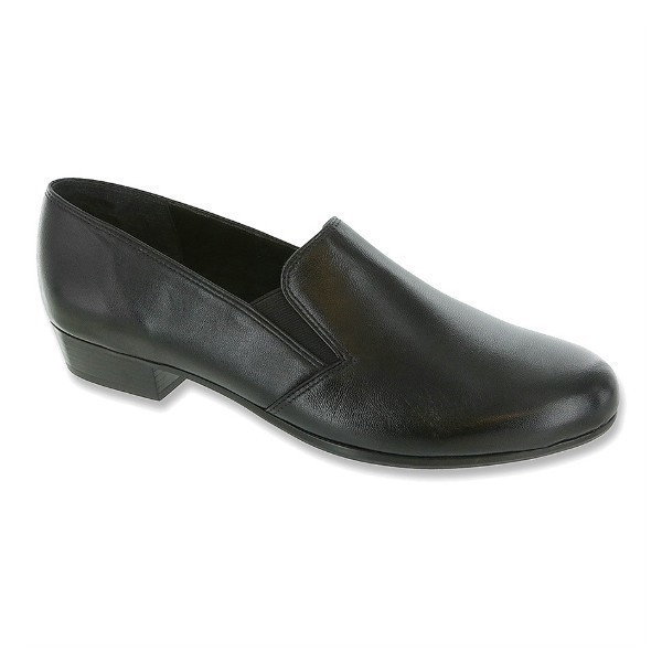 WOMEN'S HAILEY BLACK KID DRESS SLIP-ON Thumbnail