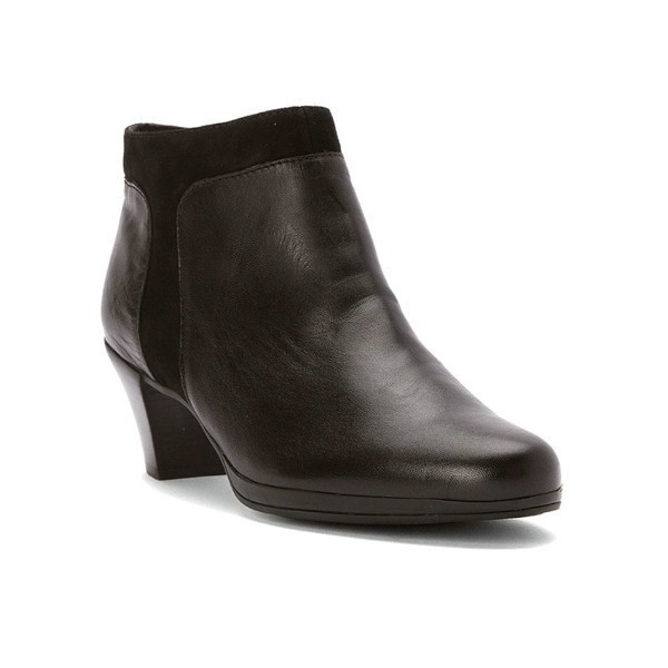 WOMEN'S HOPE BLACK LEATHER/SUEDE DRESS BOOT Thumbnail