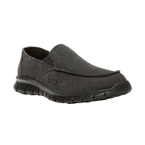 MEN'S MCLEAN BLACK CANVAS SLIP-ON Thumbnail